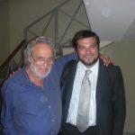 Con Luis Bakalov , post-concerto