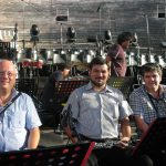Con gli amici C. Romano e P. Verrecchia