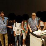 Con Ennio Morricone, prove con alcuni miei allievi